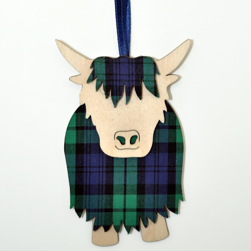 Black Watch Hamish the Highland Cow Ornament