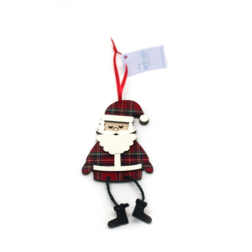 Royal Stewart Hanging Santa Ornament