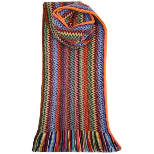 Lochcarron | Zig Zag Knitted Wool Scarf – Rainbow