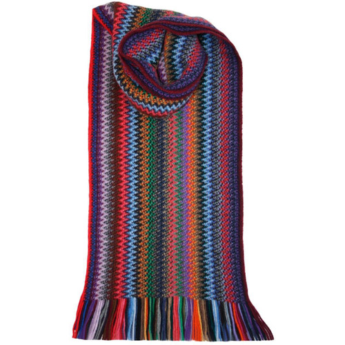 Lochcarron | Zig Zag Knitted Wool Scarf – Tropic