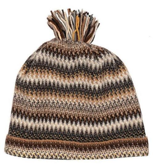 Lochcarron | Zig Zag Knitted Wool Hat – Havana