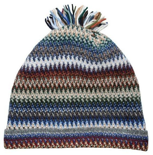 Lochcarron | Zig Zag Knitted Wool Hat – Cappuccino