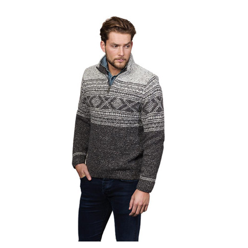 Fisherman Out Of Ireland | Men's Wool Zip-neck Sweater