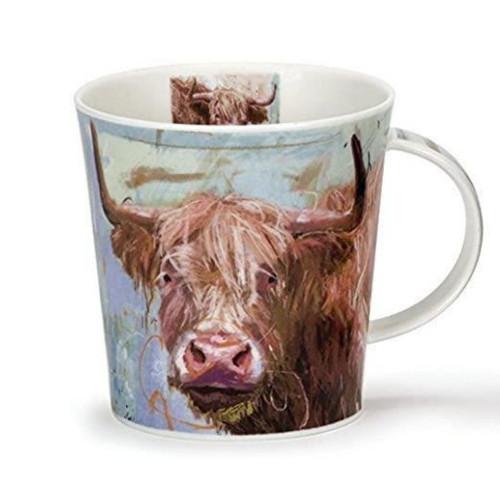 Dunoon Highland Cows on Canvas Mug