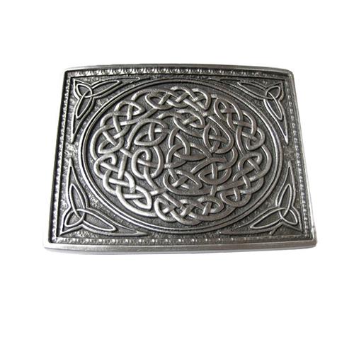 Utility Belt Buckle | Matte Pewter Celtic Knot