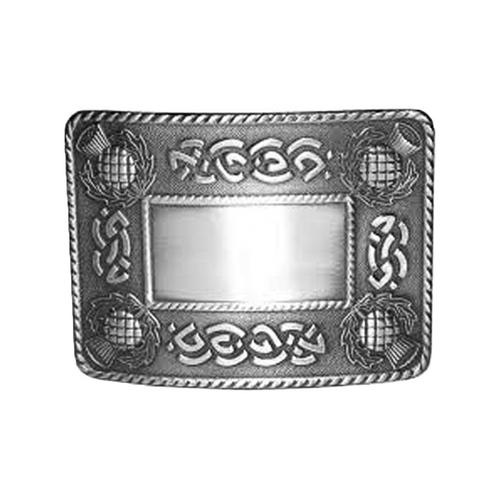 Belt Buckle Celtic Knot & Thistle
