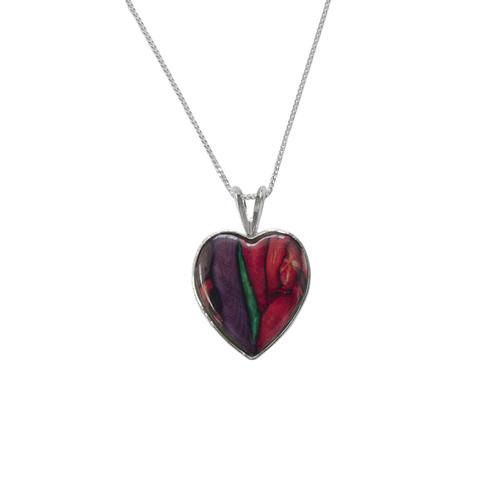 Heathergems small Sterling Silver Heart Pendant