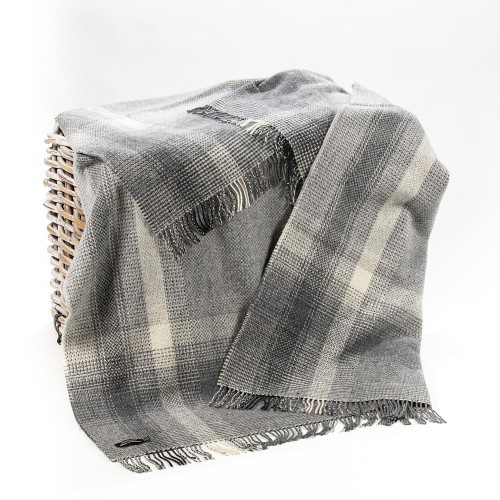 John Hanly Co. | Merino Wool & Cashmere Throw off white