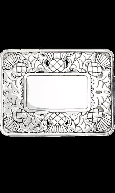 Pierced Open Thistle Belt Buckle