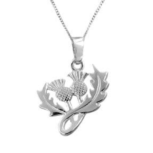 Scottish Thistle Silver Pendant