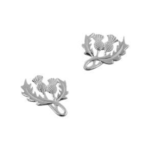 Scottish Thistle Silver Earrings