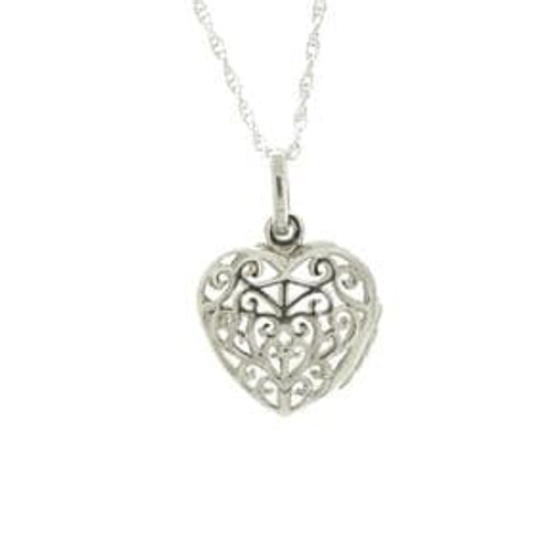 Celtic Heart Sterling Silver Locket