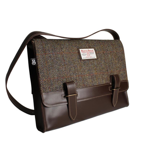 Bucktrout Harris Tweed Messenger Bag