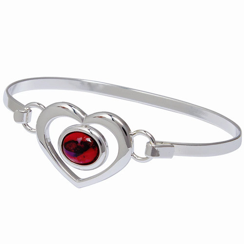 Heathergems Heart Bangle