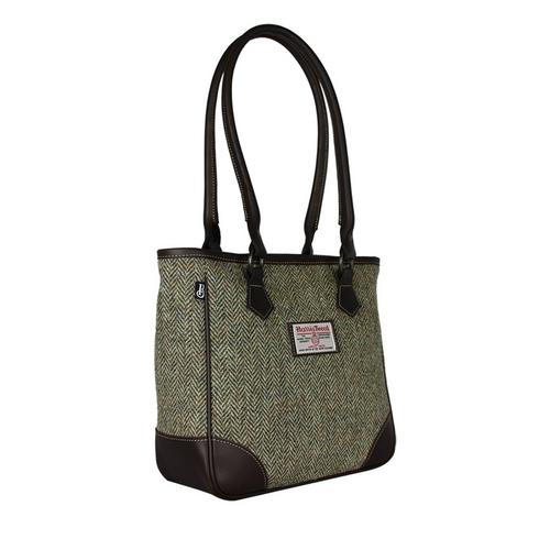 Bucktrout  Harris Tweed Shire Handbag Lovat