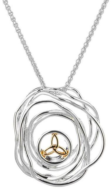 Celtic Cradle of Life Silver Pendant