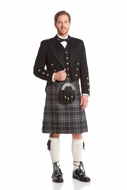 Prince Charlie Jacket & Kilt Rental Package