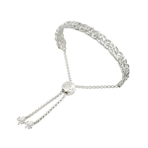 Solvar Trinity Knot adjustable bracelet