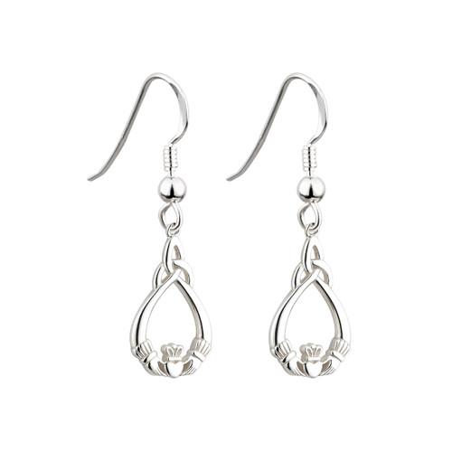 Solvar Claddagh Trinity Knot earrings