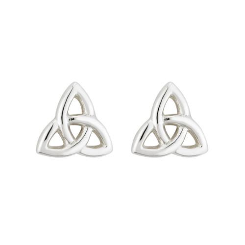 Solvar Trinity Knot Silver Stud Earrings