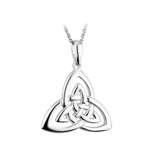 Solvar Trinity Knots Silver Pendant