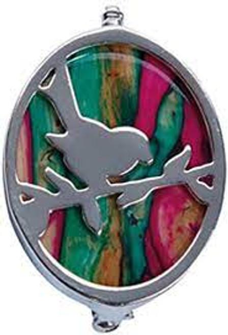 Heathergems silver-plated robin brooch