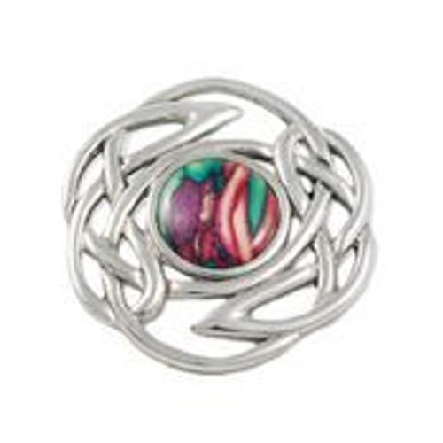 Heathergems Celtic knot pewter brooch