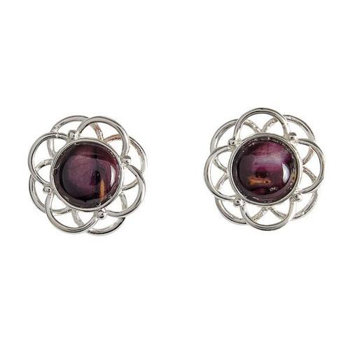 Heathergem Mor silver-plated stud earrings