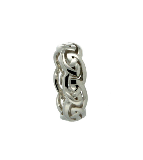 Keith Jack wide Eternity Silver Ring