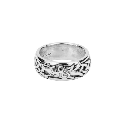 Keith Jack Celtic Dragon Silver Ring