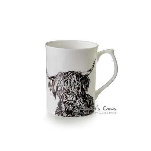 Lauren's Cows Fine Bone China Mug 'Delilah'