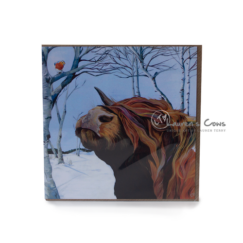Lauren's Cows Highland Cow Greeting Card 'Rocky and Robin'