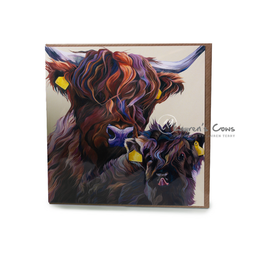Lauren's Cows Highland Cow Greeting Card ' Wee One'