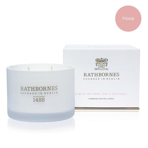 Rathbornes Dublin Tea Rose Classic Candle