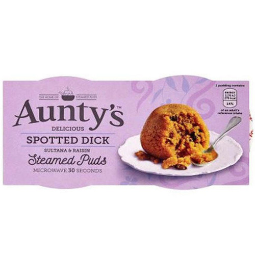 Aunty's Spotted Dick Steamed Puds 2pk