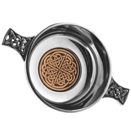 Celtic Rose Pewter Quaich