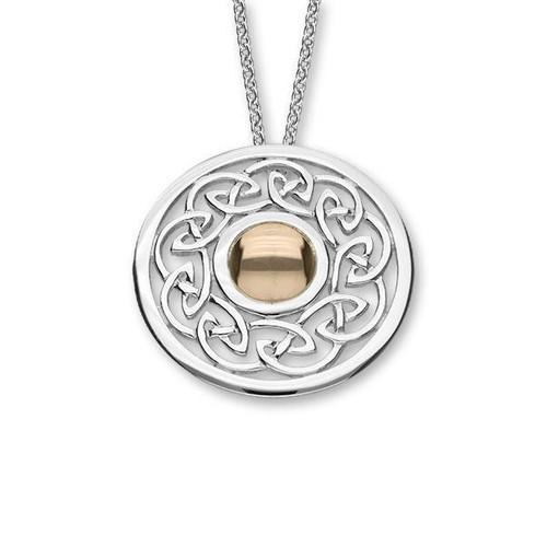 Ortak | Cuillin Silver & Rose Gold Pendant