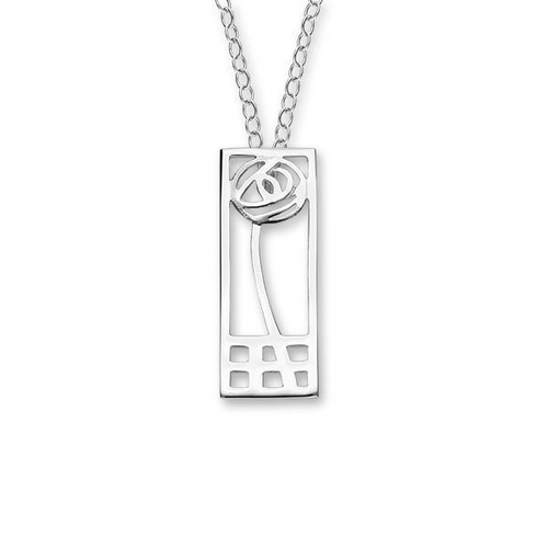Charles Rennie Mackintosh Silver Pendant