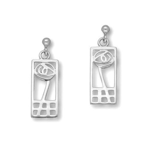 Ortak | Charles Rennie Mackintosh Silver Earrings