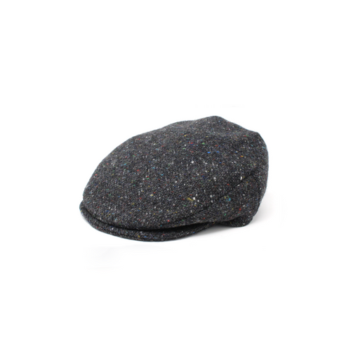 Hanna Hats | Vintage Charcoal Tweed Cap