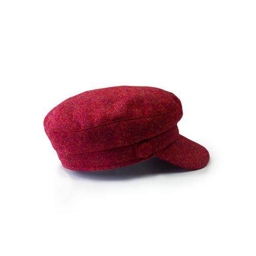 "Wild Atlantic ""Skipper"" Tweed Cap - Red"