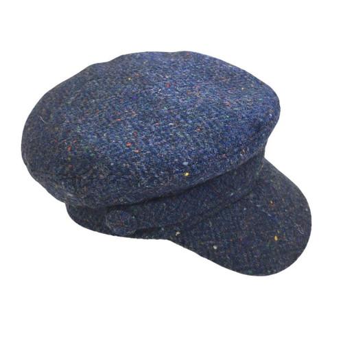"Wild Atlantic ""Skipper"" Tweed Cap - Azure Blue"