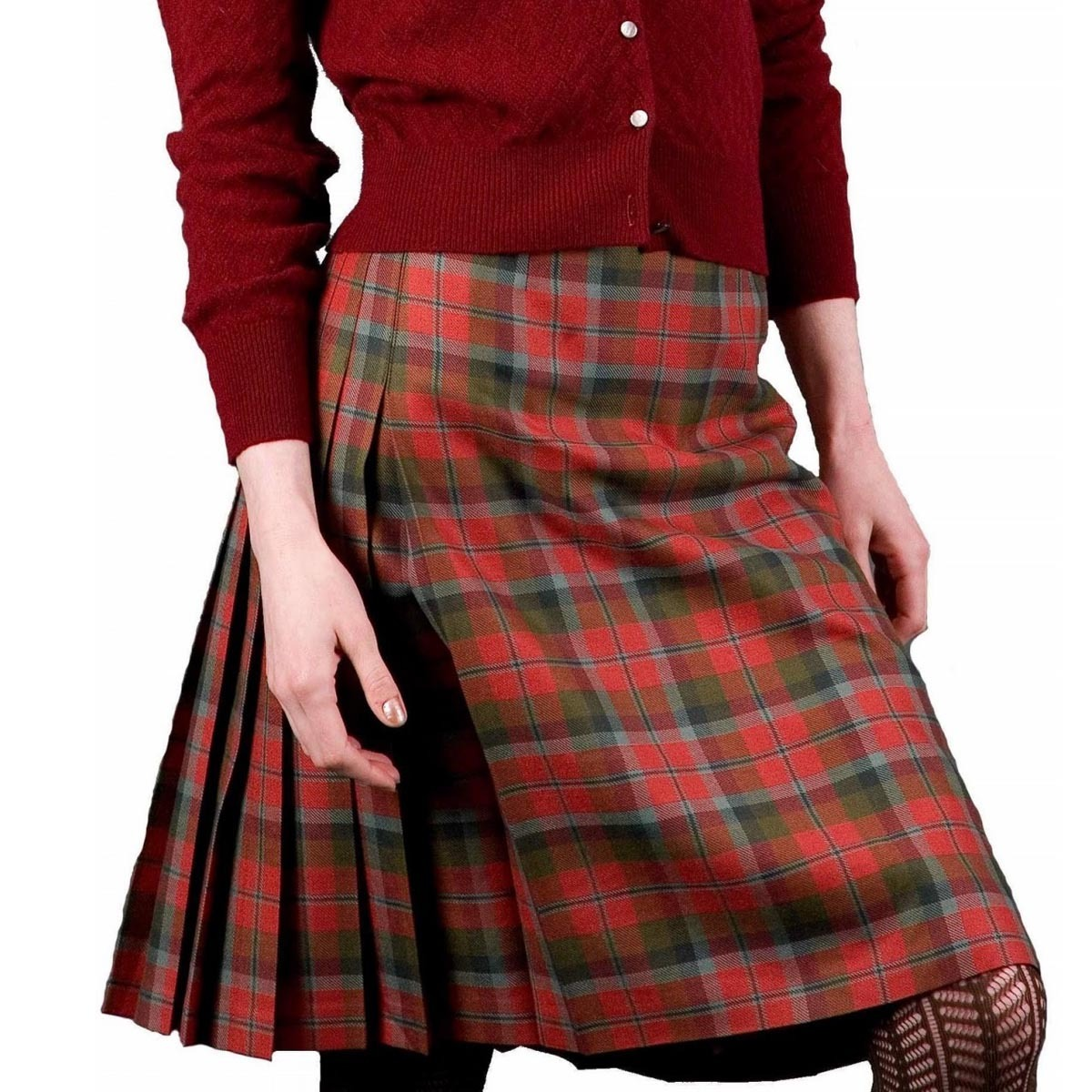 f809066058b Clan Tartan Kilted Skirt - Burnett s   Struth Scottish Regalia