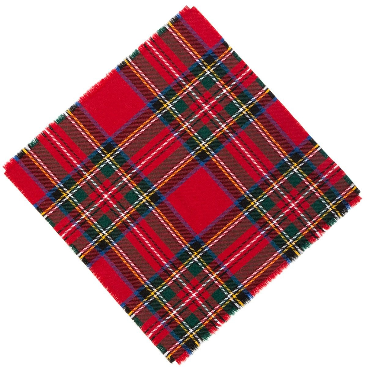 Tartan Tie Clark or Pocket Square Scottish Wool Plaid