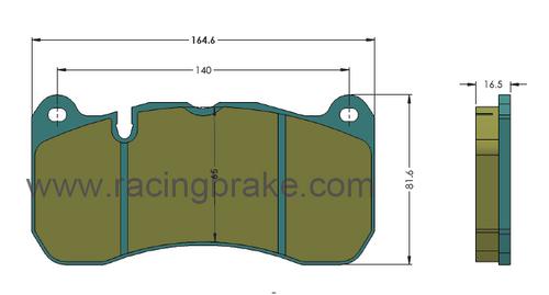 RB 6 Piston Caliper (225x42)  for Porsche 991 GT3 (Non Pccb) Front (1 caliper)