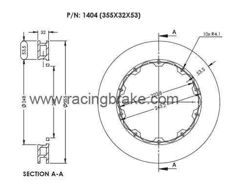 Rotor Ring (355x32) for Stopteck/Brembo BBK Replacement (Brembo P/N: 09.9306.11 &.21) Price is for Pair &  Includes Hardware