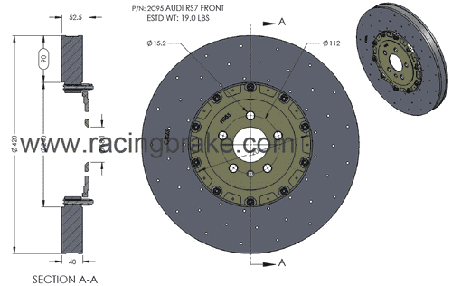 RB-CCB Rotor Kit (420/370) for Audi RS7 CCB Replacement (P/N 2C95 & 2R10)