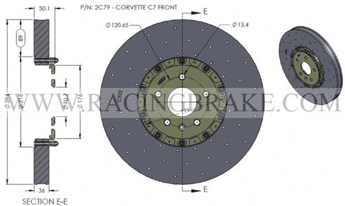 RB-CCB Rotor Kit (394/380) for  Corvette C6 (P/N 2C01 & 2C02)