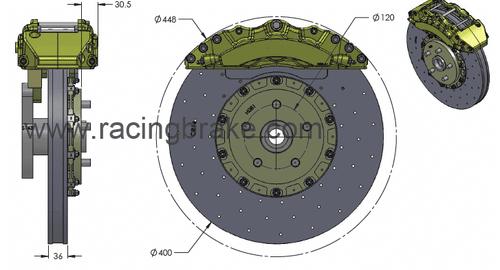 RCCB System Kit (400/380) for Lexus LC500 Front & Rear (P/N 2R05-K & 2R06-K)