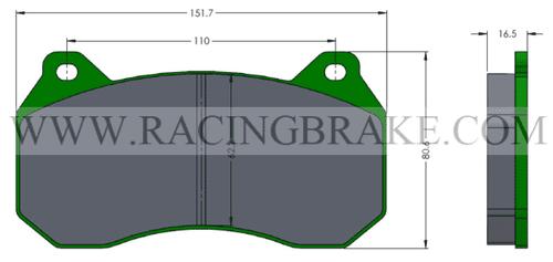 [PDC8Z-F-391A] RB Street Brake Pads - Corvette C8 Z51 Front